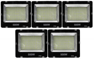 500 Watt Ultra Thin Slim IP66/IP65 LED Flood Outdoor Light Cool White Waterproof-500W (Pack Of 5)
