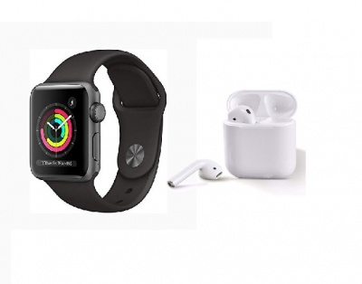 T500 Series 5 Bluetooth Call Smart Watch and i12 TWS Wireless Earphones Combo offer