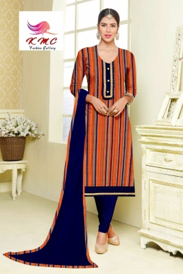 KMC Fashion Pari Women's Cotton Reyon Semi-stitched Salwar Suit (Multicolor3,Free Size)