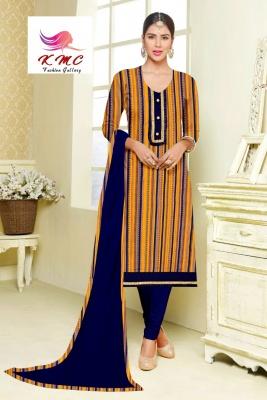KMC Fashion Pari Women's Cotton Reyon Semi-stitched Salwar Suit (Multicolor4,Free Size)