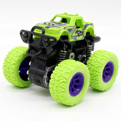 Monster Trucks Toys for Boys, Stunt Car ,360 Degree Rotation 4 Wheels Drive Durable Friction Powered Truck Toys for Kids Inertia Car Toys for Toddlers Gifts for Kids (Pack of 1) ( Multicolor )