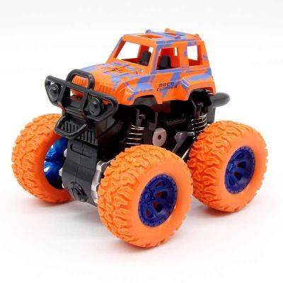 Monster Trucks New Mini Inertial Vehicle Four-Wheel-Drive Plastic Children Toy Car Pull Back Stunt Car