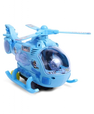 Musical Force Helicopter Toy, Bump and Go Action, Lights and Music, Blue