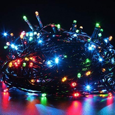Diwali Decorative LED String Lights Serial Bulbs - Multi Color 25 Meter