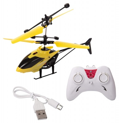 Exceed Induction Flight Electronic Radio RC Remote Control Toy Charging Helicopter with 3D Light & Safety Sensor for Indoor Toys for Boys Kids (Color Assorted)