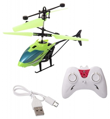 RC Infrared Induction Electronic Sensor Helicopter remote control USB Charging and Flashing Lights Toys for Kids