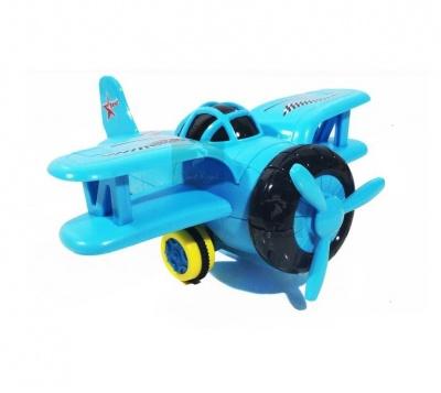 Lighting Friction Bomber 3D Light and Music Plane Toys kids - multicolor