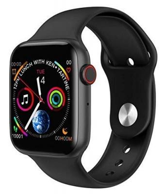 Series 6 W26 Smart Watch Infinite Screen - 44mm Smart Watch Bluetooth Call ECG Temperature Smart Watch (Black)