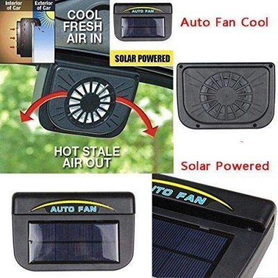 Solar Power Car Auto Cool Air Vent with Rubber Stripping Car Ventilation Fan