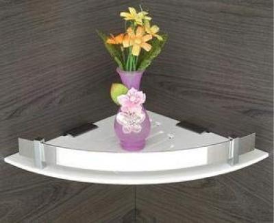 Acrylic Multipurpose Bathroom Corner Shelf/Rack/Decorative Corner Wall Shelf/Bathroom Accessories(8 x 8 in)