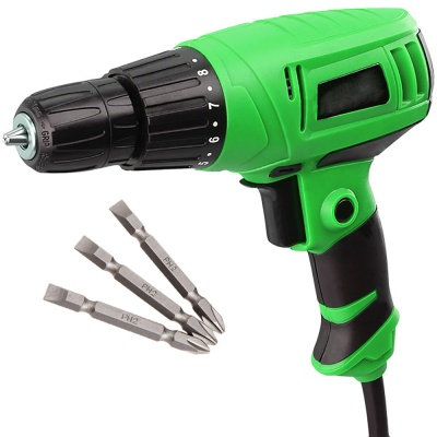 350W screw gun drill machine 750r/min power generate with 8 torque adjust reversible 10mm keyless chuck best work for Home & magnetic PH2 plus and minus bit-XP-SD11H [color_multi/material_Plastic]
