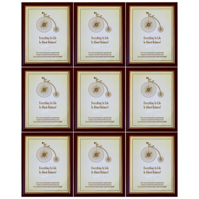 Photo Frame Table Top & Wall Hanging Size 8 X 10 Inches color Brown & Golden - 9 Pcs
