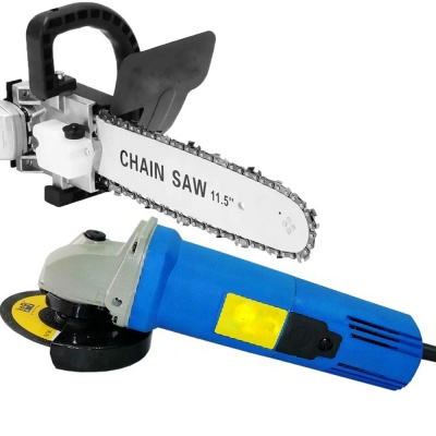 850W 4 inch (100mm) Heavy Duty Small Angle Grinder with Toggle Switch with chainsaw adapter 11.5