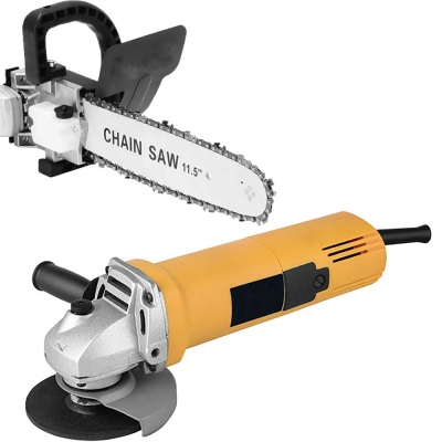 850W 220V 50/60HZ 100mm angle grinder machine with chainsaw adapter 11.5