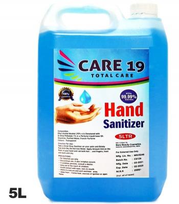 Hand Sanitizer Sanitiser Gel 5L 5 Litre Alcohol 70% kills 99.99% SALE
