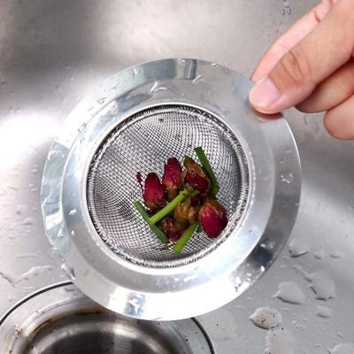 Household Stainless Steel Sink wash basin Filter Pool Bathtub Bathroom Sewer Floor Drain Kitchen Anti-clog Slag Strainer Accessories ( Inner Ring Size- 4 CM, Material-Stainless Steel )