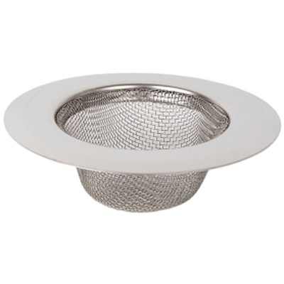 Stainless Steel Sink Filter wash Basin Strainer Mesh Basket Hole Plug Drainer Filtration Floor Drain Hair Catcher Kitchen Accessories ( Inner Ring Size- 4 CM, Material-Stainless Steel )